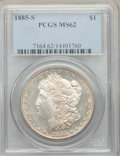 Morgan Dollars: , 1885-S $1 MS62 PCGS. PCGS Population: (2172/6891). NGC Census: (1225/3432). CDN: $260 Whsle. Bid for problem-free NGC/PCGS ...