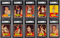 Basketball Cards:Sets, 1957 Topps Basketball Complete Set (80)....