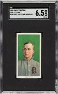 Baseball Cards:Singles (Pre-1930), 1909-11 T206 Sweet Caporal Ty Cobb (Portrait-Green) SGC EX/NM+ 6.5....