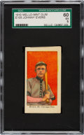Baseball Cards:Singles (Pre-1930), 1910 E105 Mello-Mint Johnny Evers SGC 60 EX 5 - The Finest of Only Four SGC Examples! ...