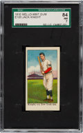 Baseball Cards:Singles (Pre-1930), 1910 E105 Mello-Mint Jack Knight SGC 84 NM 7 - Pop One, None Higher! ...