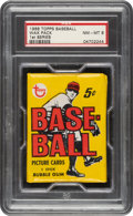 Baseball Cards:Unopened Packs/Display Boxes, 1968 Topps Baseball (1st Series) Wax Pack PSA NM-MT 8. ...