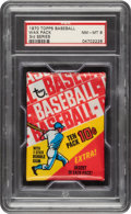 Baseball Cards:Unopened Packs/Display Boxes, 1970 Topps Baseball (3rd Series) Unopened Wax Pack PSA NM-MT 8....