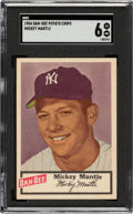 Baseball Cards:Singles (1950-1959), 1954 Dan-Dee Potato Chips Mickey Mantle SGC EX/NM 6....