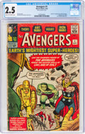 Silver Age (1956-1969):Superhero, The Avengers #1 (Marvel, 1963) CGC GD+ 2.5 Cream to off-wh...