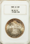 1885-CC $1 MS64 Prooflike NGC. NGC Census: (216/120). PCGS Population: (470/217). CDN: $800 Whsle. Bid for problem-free...