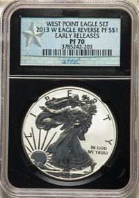 2013-W $1 Enhanced Finish Silver Eagle, West Point Mint Set, Early Releases SP70 NGC. This lot will also include a: 201...