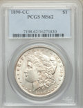 Morgan Dollars: , 1890-CC $1 MS62 PCGS. PCGS Population: (2725/6700). NGC Census: (1541/2711). CDN: $550 Whsle. Bid for problem-free NGC/PCGS...
