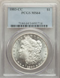 Morgan Dollars: , 1883-CC $1 MS64 PCGS. PCGS Population: (17319/11726). NGC Census: (8607/5584). CDN: $215 Whsle. Bid for problem-free NGC/PC...