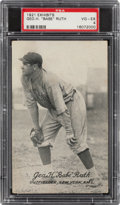 "Baseball Cards:Singles (Pre-1930), 1921 Exhibits ""Babe"" Ruth PSA VG-EX 4...."