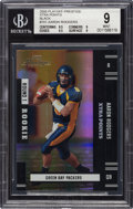 Football Cards:Singles (1970-Now), 2005 Playoff Prestige Aaron Rodgers Xtra Points Black #151 BGS Mint 9 - Numbered 12/25!...