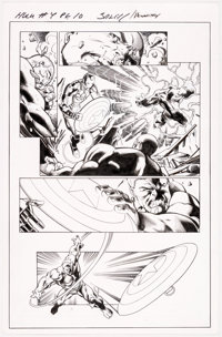 Mark Bagley and Andrew Hennessy Hulk #4 Story Page 10 Original Art (Marvel, 2014)