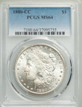 1880-CC $1 MS64 PCGS. PCGS Population: (5078/3619). NGC Census: (2826/1590). CDN: $525 Whsle. Bid for problem-free NGC/P...