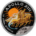 Explorers:Space Exploration, Apollo 13 Flown Embroidered Mission Insignia Crew Patch Directly from the Personal Collection of Mission Commander James Lovel...