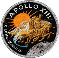 Apollo 13 Flown Embroidered Mission Insignia Crew Patch Directly from the Personal Collection of Mission Commander James...