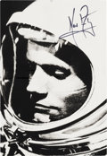 Explorers:Space Exploration, Neil Armstrong Signed Gemini 8 Postcard Photo....