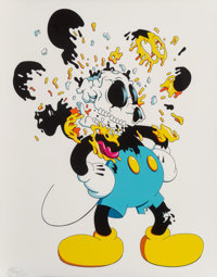 Matt Gondek (20th century) Deconstructed Mouse (Blue), 2018 Digital print in colors on Somerset pape
