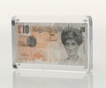 Other:Contemporary, Banksy X Banksy of England. Di-Faced Tenner, 10 GBP Note, 2005. Offset lithograph in colors on paper. 3 x 5-5/8 inches (...