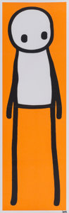 Fine Art - Work on Paper:Print, Stik (20th century). Standing Figure (Orange), 2015. Offset lithograph in colors on paper. 29-7/8 x 9-1/2 inches (75.9 x...