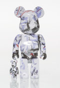 Collectible, BE@RBRICK X Futura. Purple Marble 400% and 100% (set of two), 2017. Painted cast resin. 10-3/4 x 5 x 3-1/2 inches (2...