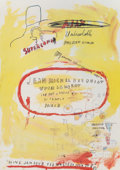 Fine Art - Work on Paper:Print, After Jean-Michel Basquiat . Supercomb. exhibition poster, 1988. Offset lithograph in colors on smooth wove paper. 29 x ...
