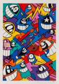 Fine Art - Work on Paper:Print, PEZ (b. 1976). Happiness Everywhere, 2017. Screenprint in colors on Somerset paper. 27-1/2 x 19-5/8 inches (69.9 x 49.8 ...