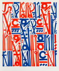 RETNA (b. 1979) Sacred Dance of Memories, 2017 Lithograph in colors on Rives BFK paper 32-1/4 x 2