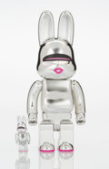 Collectible, BE@RBRICK X Hajime Sorayama. Rabbit 400% and 100% (two works), 2017. Painted cast resin. 11-3/4 x 5 x 3-1/2 inches (...
