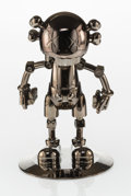 Other:Contemporary, KAWS X Hajime Sorayama. No Future Companion (Black Chrome), 2008. Metallized plastic. 12-1/2 x 7-3/4 x 7-3/4 inches (31....