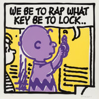 Mark Drew (b. 1978) Lock (Digable Planets), 2019 Screenprint in colors on Somerset paper 19-5/8 x
