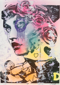 DAIN (20th century) Untitled, n.d. Mixed media on paper 44-1/2 x 31 inches (113 x 78.7 cm) Sig