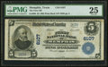 Memphis, TX - $5 1902 Plain Back Fr. 608 The First National Bank Ch. # 6107 PMG Very Fine 25