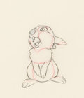 Animation Art:Production Drawing, Bambi Thumper Animation Drawing (Walt Disney, 1942). ...