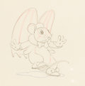 Animation Art:Production Drawing, The Flying Mouse Animation Drawing (Walt Disney, 1934). ...