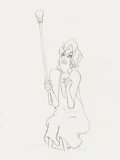 Animation Art:Production Drawing, The Rescuers Madame Medusa Animation Drawing (Walt Disney, 1977). . ...