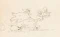 Animation Art:Production Drawing, Babes in the Woods Animation Drawing (Walt Disney, 1932). ...
