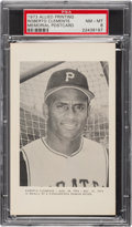Baseball Cards:Singles (1970-Now), 1973 Allied Printing Roberto Clemente Memorial Post Card PSA NM-MT 8....