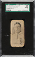 Baseball Cards:Singles (Pre-1930), 1903 E107 Breisch Williams Jimmy Collins (Blank Back) SGC 10 Poor 1. ...