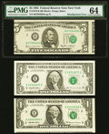 Misaligned Face Printing Error Fr. 1978-B $5 1985 Federal Reserve Note. PMG Choice Uncirculated 64; Approximate