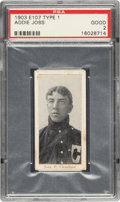 Baseball Cards:Singles (Pre-1930), 1903 E107 Breisch Williams Addie Joss (Blank Back) PSA Good 2 - The Only Example Graded by PSA! ...