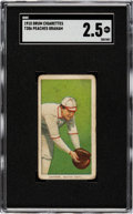 Baseball Cards:Singles (Pre-1930), 1909-11 T206 Drum Peaches Graham SGC GD+ 2.5 - Only Two SGC & PSA Graded Examples!...