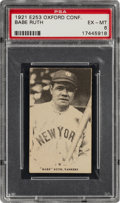 Baseball Cards:Singles (Pre-1930), 1921 E253 Oxford Confectionary Babe Ruth PSA EX-MT 6 - Pop One, None Higher! ...
