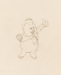 Animation Art:Production Drawing, Three Little Pigs Fifer Pig Animation Drawing (Walt Disney, 1933). . ...