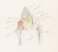 Animation Art:Production Drawing, Snow White Old Hag Color Model/Animation Drawing (Walt Disney, 1937). . ...