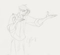 Animation Art:Concept Art, Atlantis: The Lost Empire Milo Thatch Concept Drawing (Walt Disney, 2001).. ...