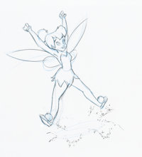 Return to Never Land Tinker Bell Animation Drawing (Walt Disney, 2002)