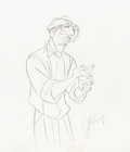 Animation Art:Production Drawing, Atlantis: The Lost Empire Milo Thatch Concept Drawing (Walt Disney, 2001).. ...