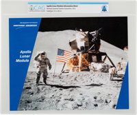 """Grumman """"Apollo Lunar Module"""" Information Sheet, 2012, Directly From The Armstrong Family Collection™, CAG Cer..."""