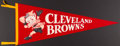 Football Collectibles:Others, 1950s Cleveland Browns Pennant....