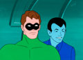 Animation Art:Production Cel, The Superman/Aquaman Hour of Adventure Green Lantern Production Cel Setup with Background and Animation Drawing (Filma...